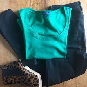 Dark Green Ralph Lauren short-sleeved shirt.